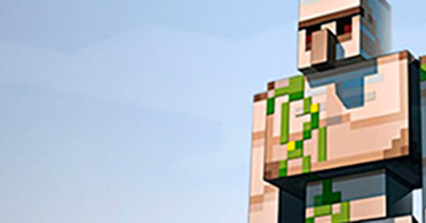 Le monde virtuel Minecraft